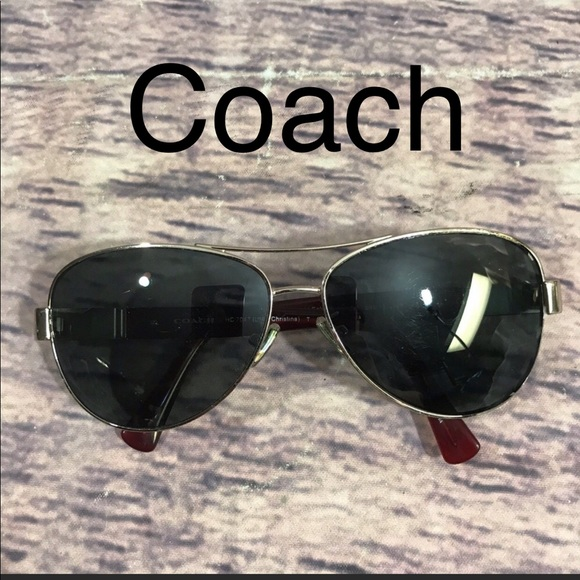 07d16d03528 Coach Sunglasses Christina Aviator Gold Red